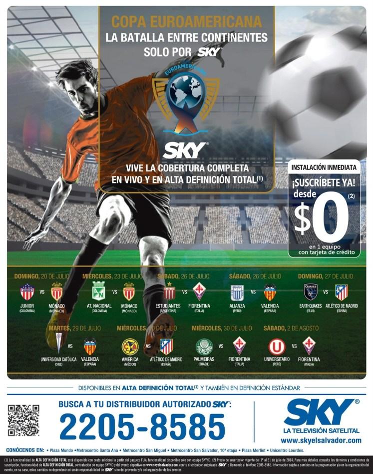 COPA euro americanes de clubes solo por SKY HD