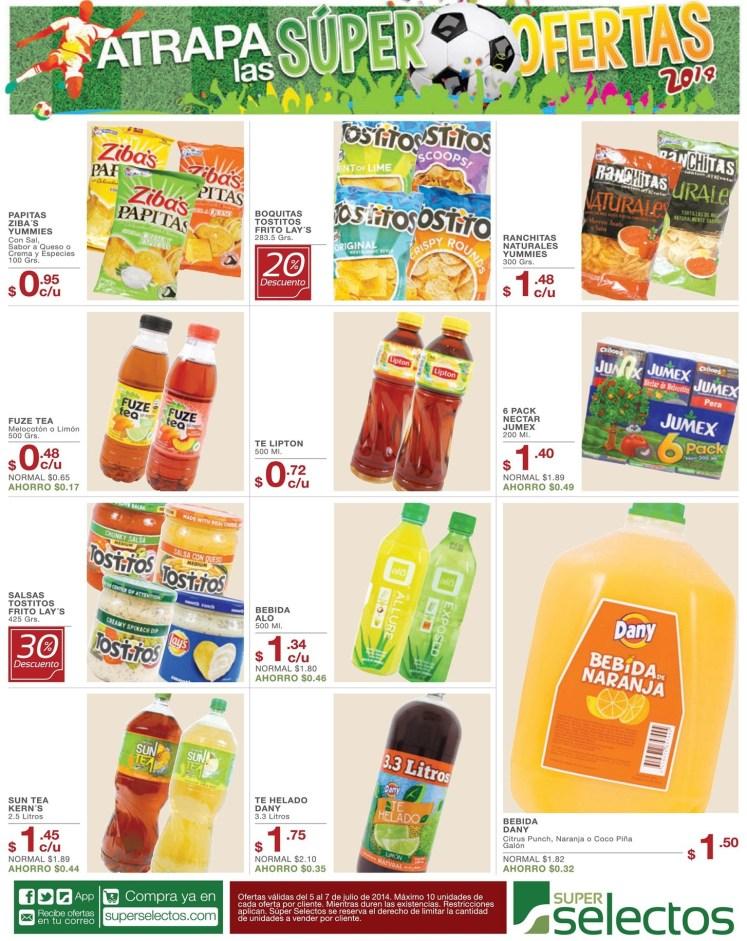 Jugos Bebidas Gaseosas Snacks para compartir - 05jul14