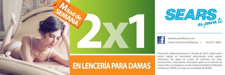 SEARS promocion de hoy LENCERIA para DAMAS - 02jul14