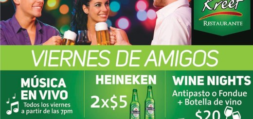 Viernes de amigos WINE NIGHTS promociones KREEF - 25jul14
