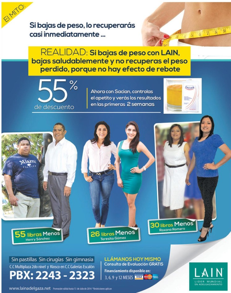 lost weight with LAIN solutions