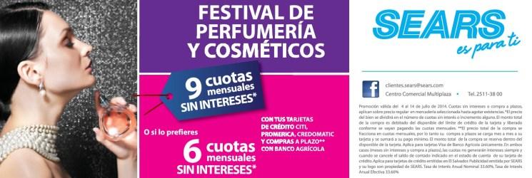 perfumeria cosmeticos para DAMAS promociones SEARS - 05jul14