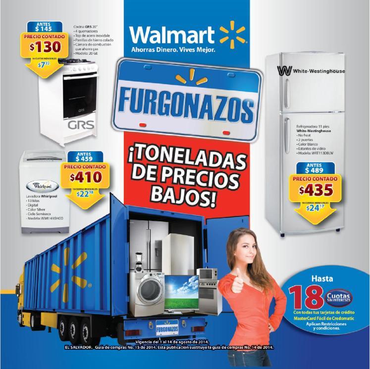 guia de compras WALMART el salvador FURGONAZOS agosto 2014