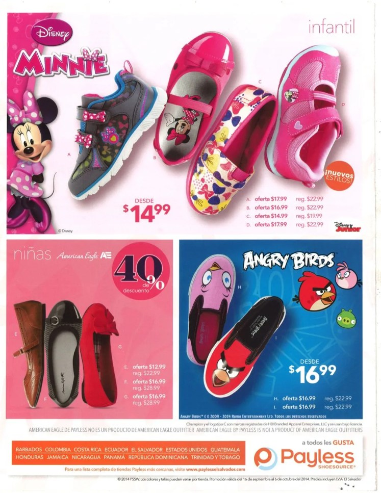 Disney Junior and Angry Birds shoes for childrens - 19sep14