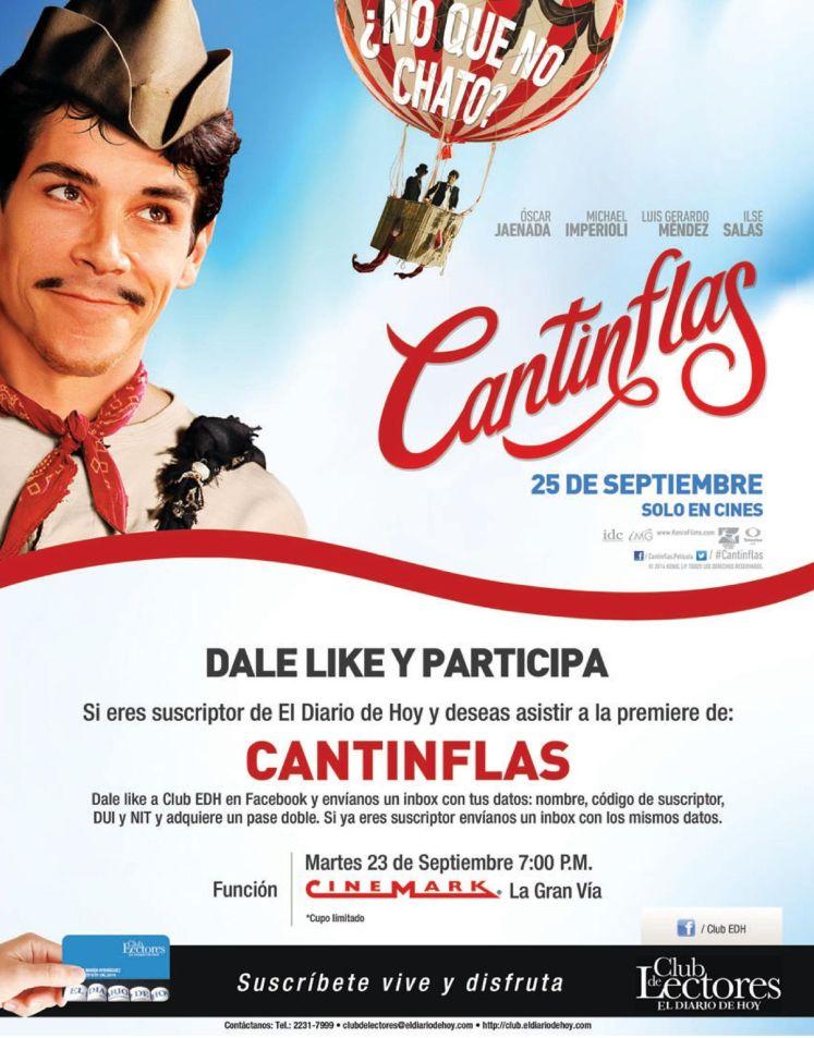 cinemark la gran via presenta CANTIFLAS movie 2014