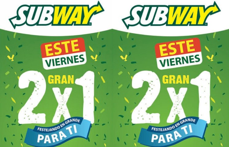 promociones 2x1 SUBWAY el salvador - 12sep14