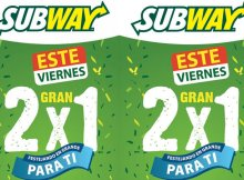 promociones 2x1 SUBWAY el salvador - 12sep14