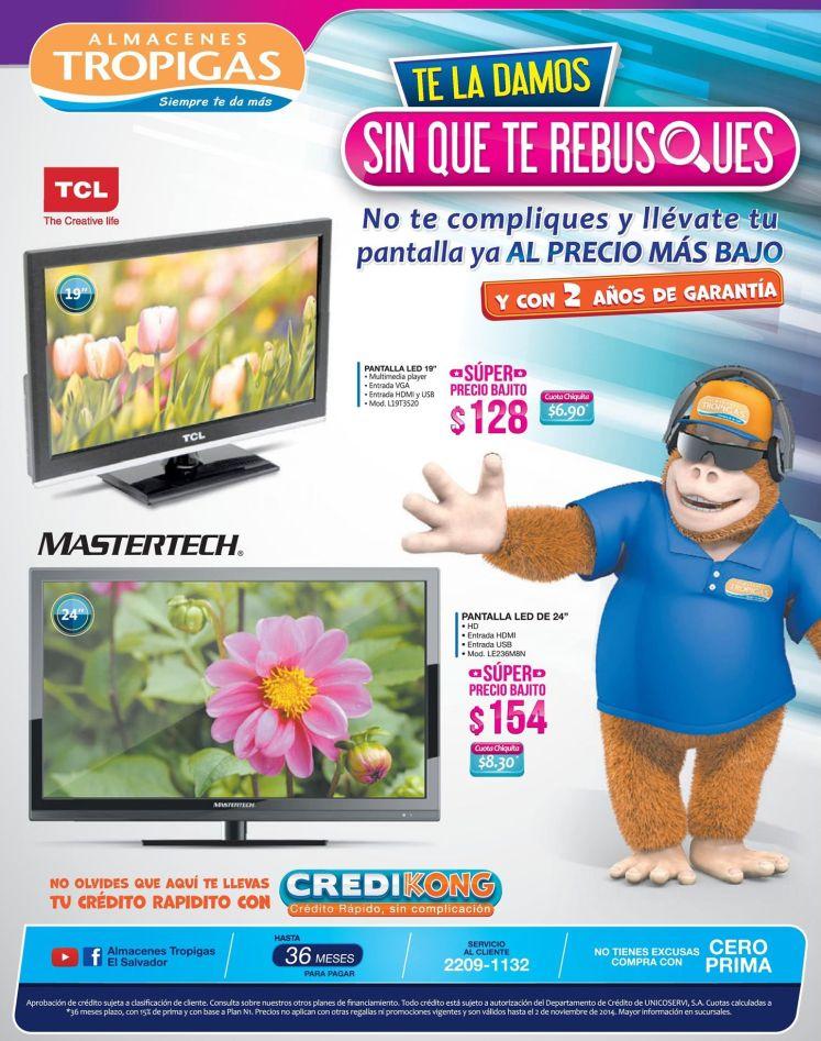 Almacenes tropigas OFERTAS en pantallas y televisores