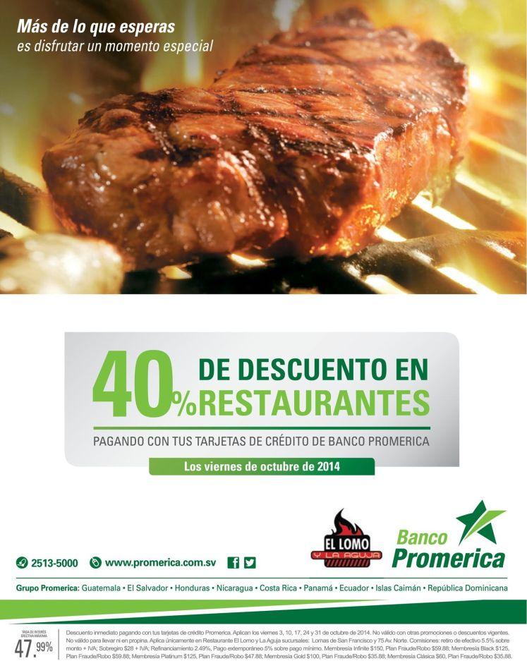 CARNES de calidad restaurante 40 oFF banco promerica - 24oct14