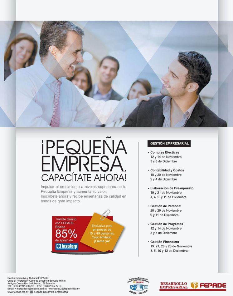 FEPADE Capacitate AHORA PYMES program INSAFORP