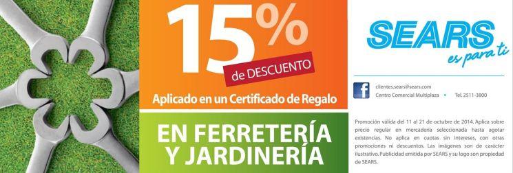 Ferreteria y jardineria descuentos SEARS - 11oct14