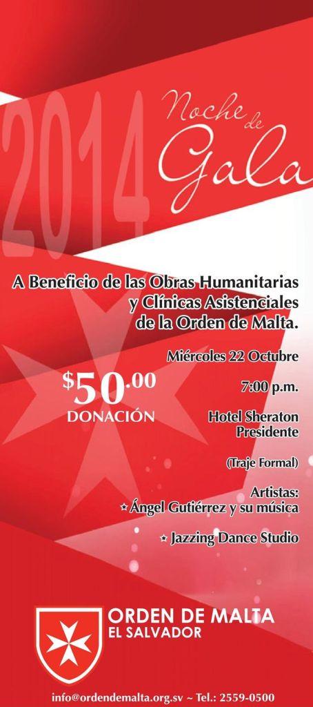 Noche de Gala 2014 ORDEN DE MALTA el salvador