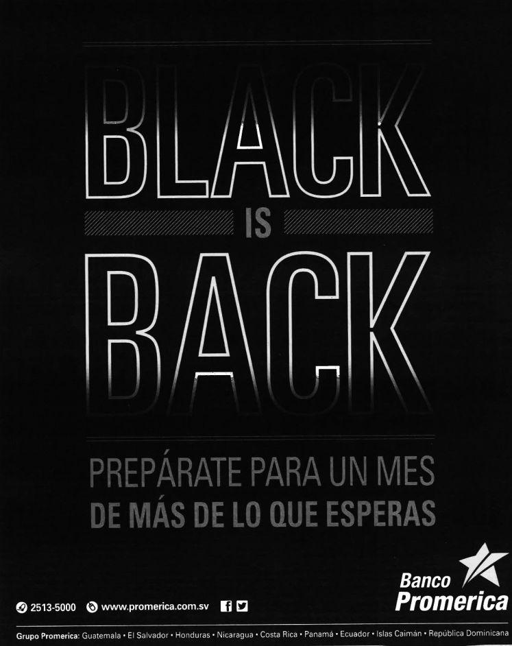 Se acerca el MES BLACK friday promociones banco promerica - nov14