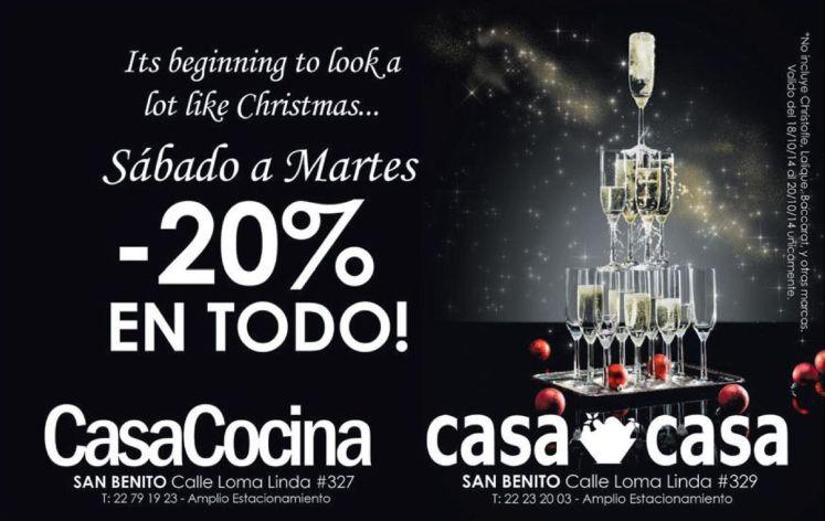 begin christmas discounts CASA COCINA CASA TODO - 18oct14