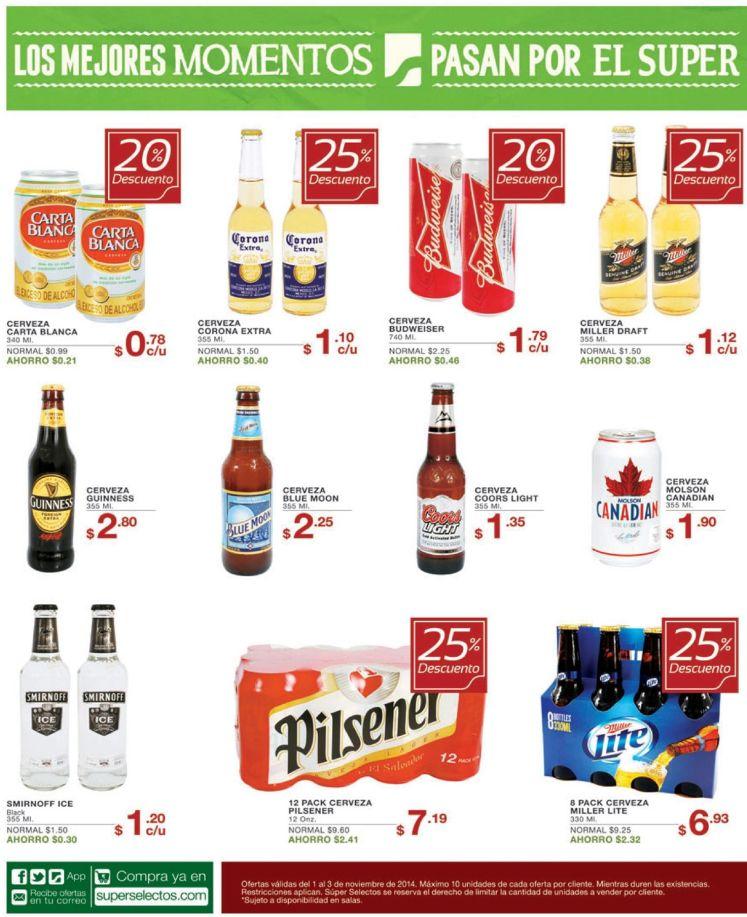 Descuentos en bebidas alcoholicas para todos los gustos - 01nov14