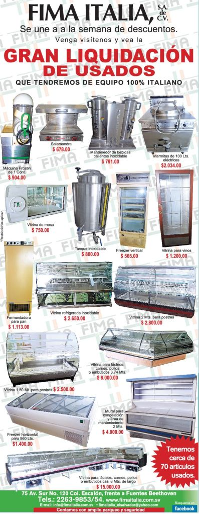 Gran liquidacion de equipo de cocina FIMA ITALIA - 26nov14