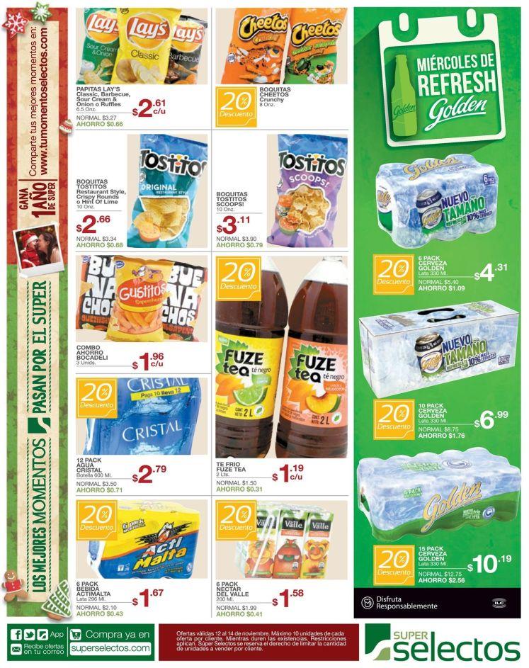 Miercoles de GOLDEN REFRESH discounts cervezas - 12nov14