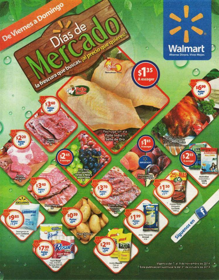 WALMART descuento mercado Tus comidas al precios que quieres - 07nov14
