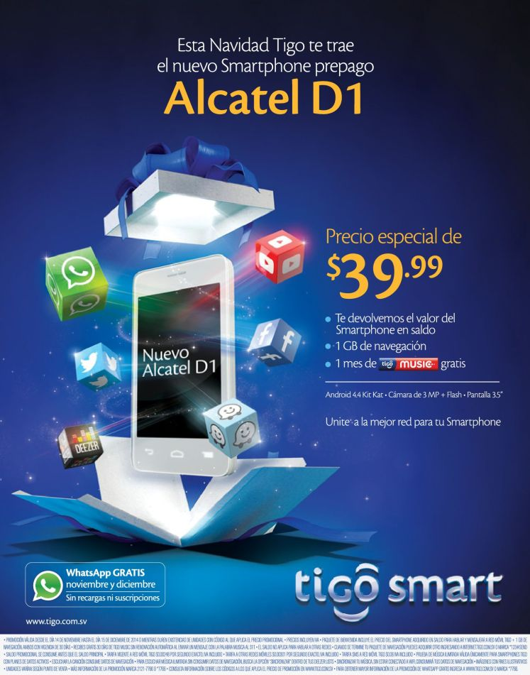 smartphone prepago TIGO barato - 17nov14