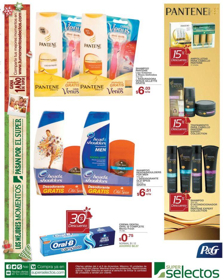 Descuentos en productos PANTENE pro V