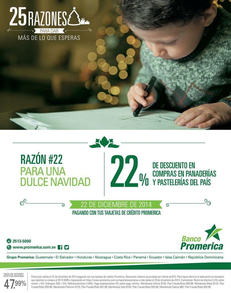 promociones y descuentos banco promerica - 22dic14