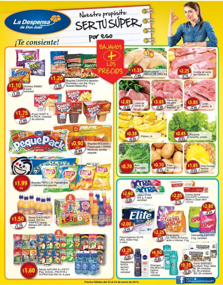 Bajos precios en la DESPENSA supermercado - 23ene15