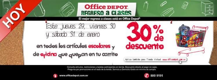 Fin de semana 30 OFF office depot regreso a clases - 29ene15