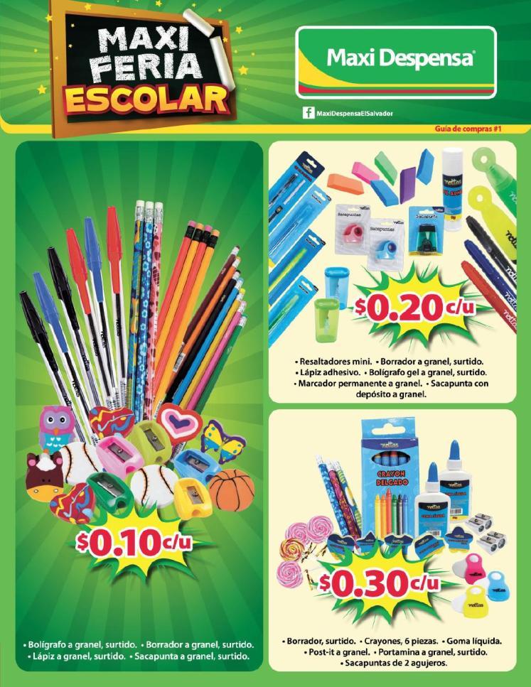 Guia de compras MAXI FERIA escolar 2015
