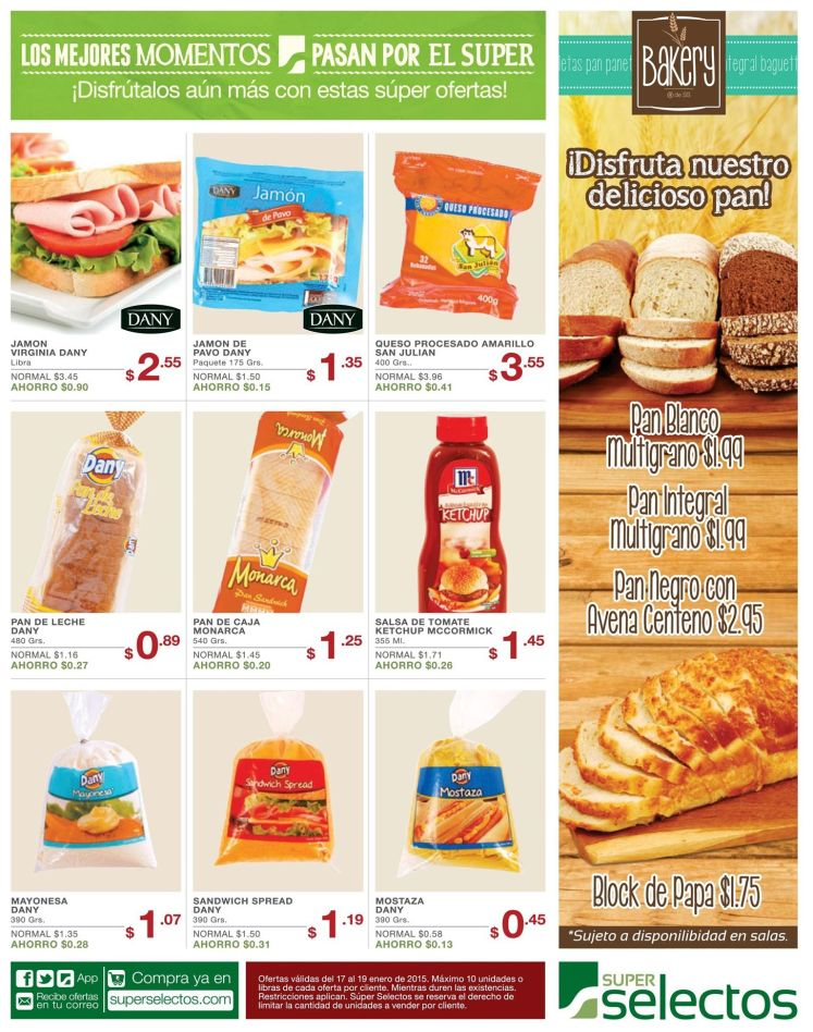 Pan super selectos BAKERY - 17ene15