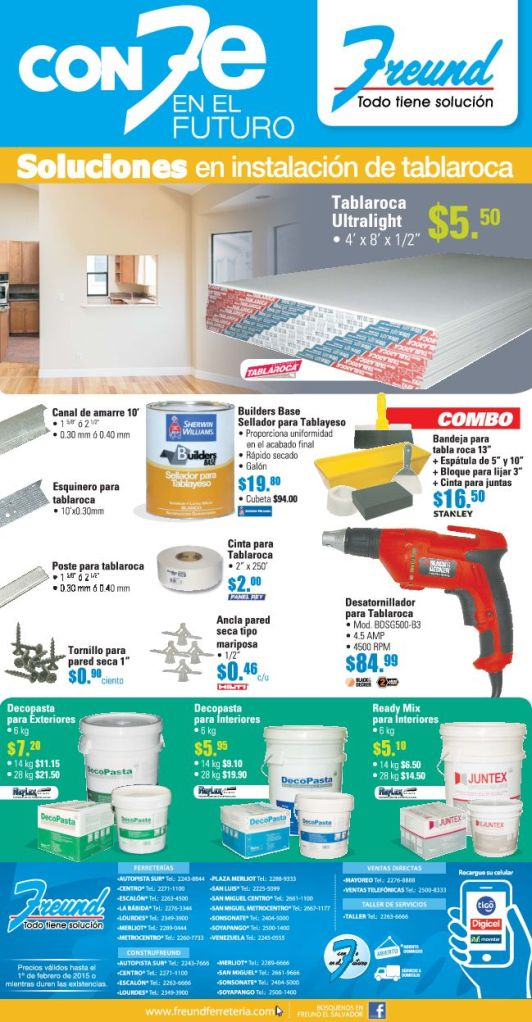 Productos para decoracion y remodelacion con TABLA ROCA - 12ene15