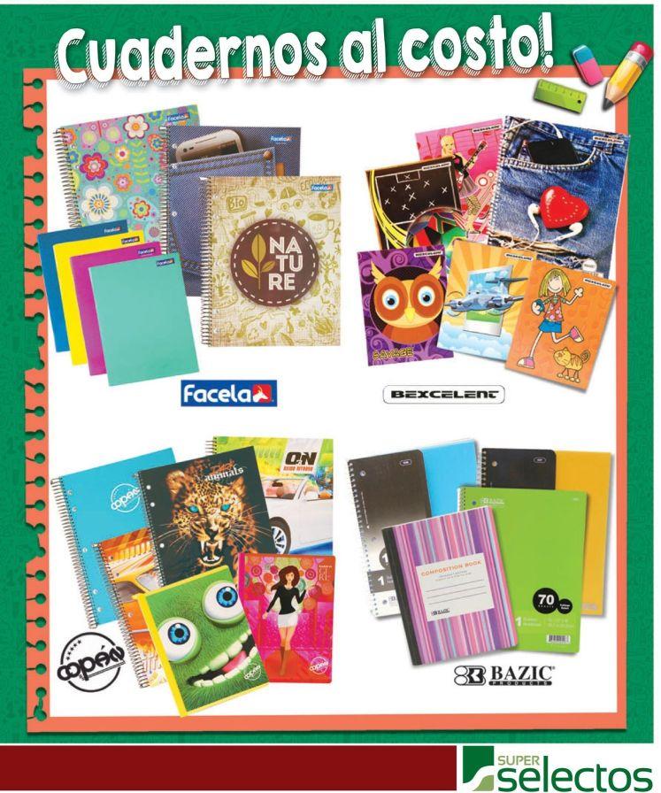 Super selectos todos los cuadernos al costo - 03ene15