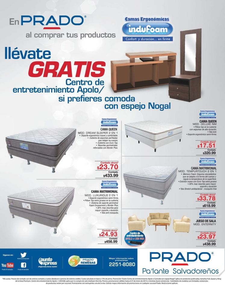 novedades en muebles y camas PRADO - 24ene15