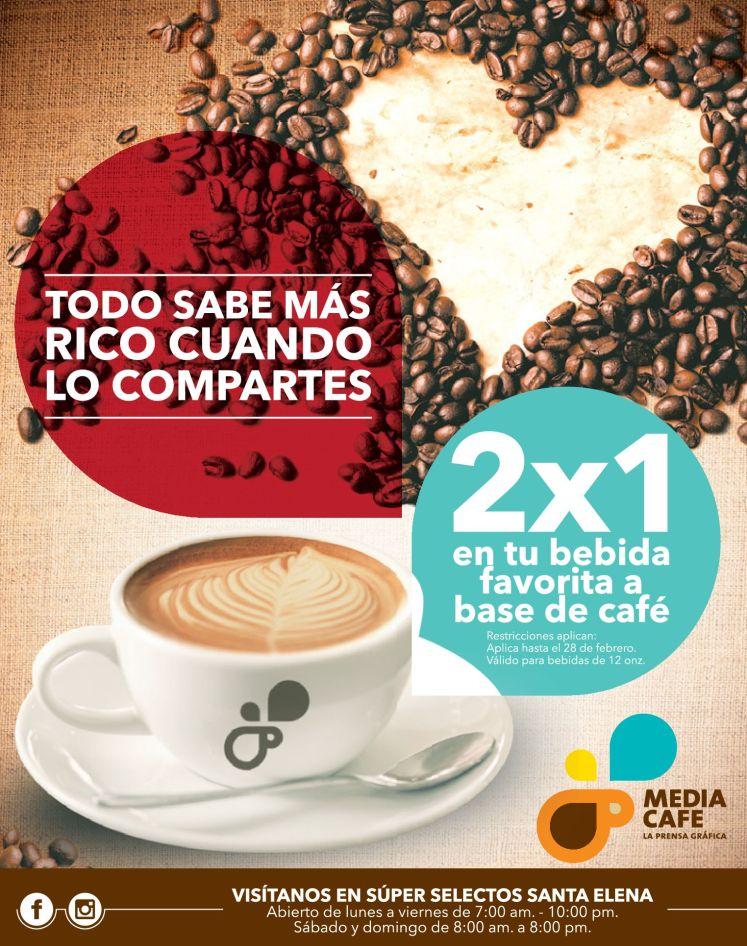 Bebidas para compartir en pareja MEDIA CAFE - 14feb15