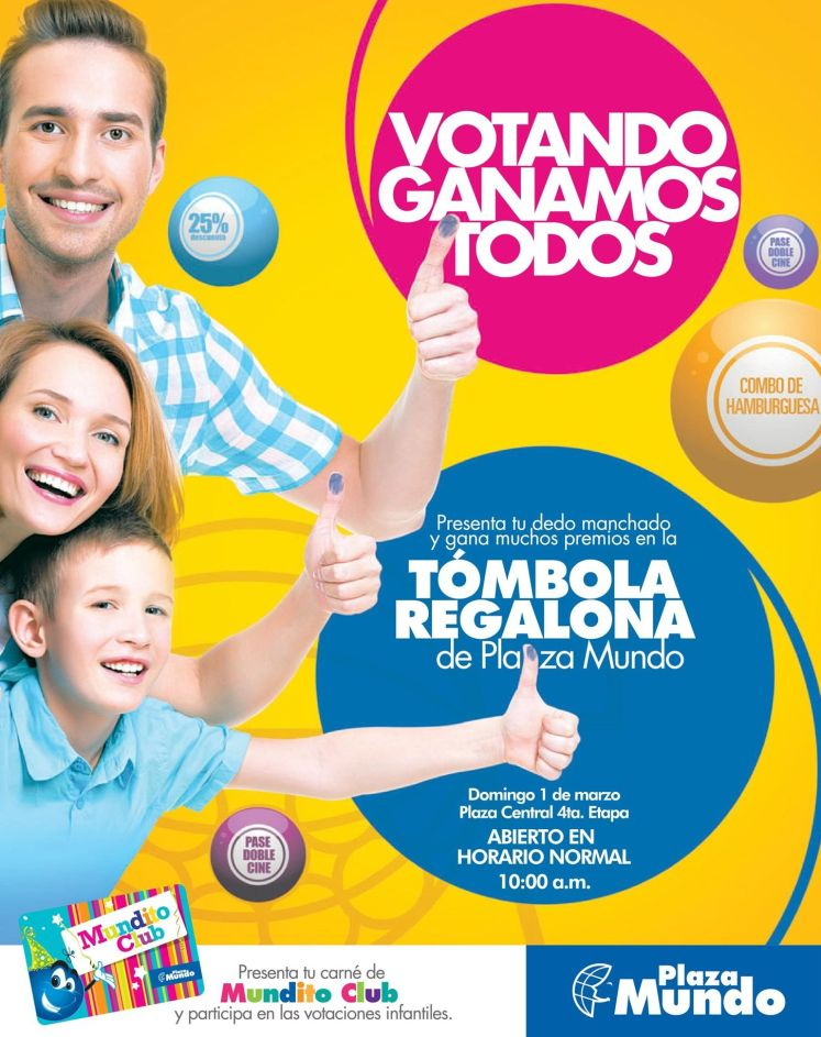 En plaza mundo VOTANDO todos ganan - 01mar15