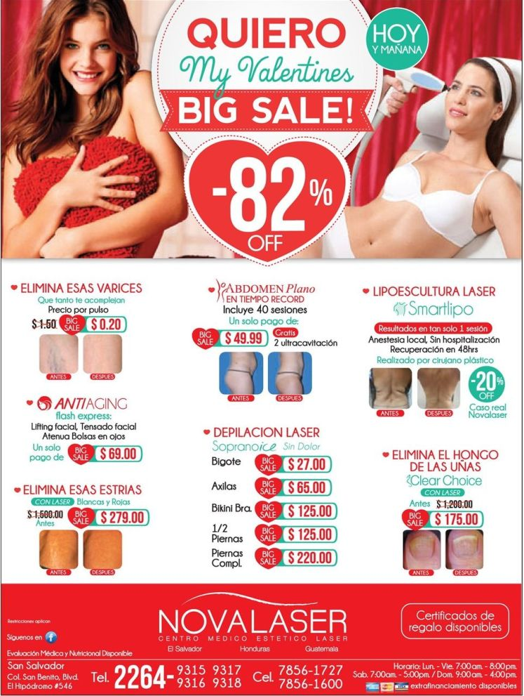 My VALENTINES BIG SALE laser treatments