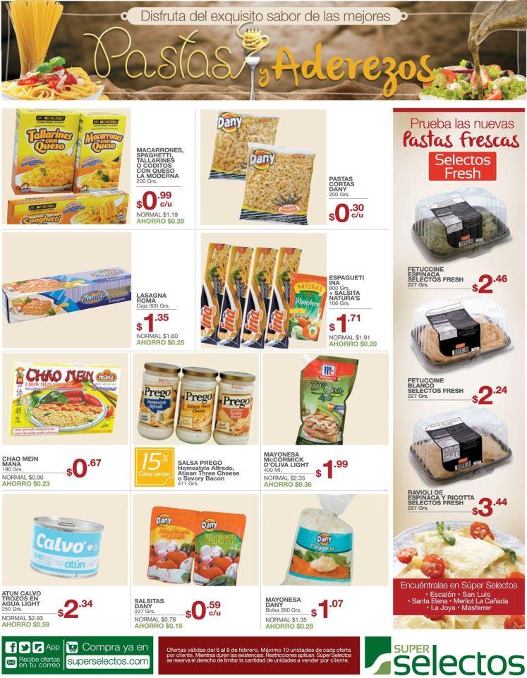 ofertas en pastas y aderezos - 06feb15