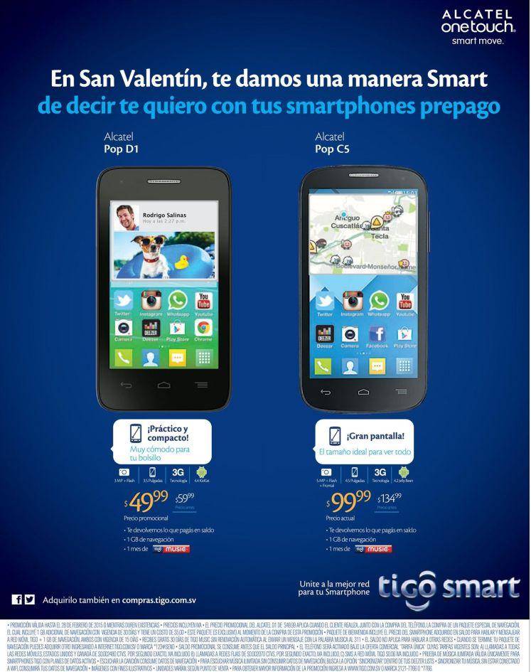 smartphones ALCATEL ofertas tigo - 23feb15