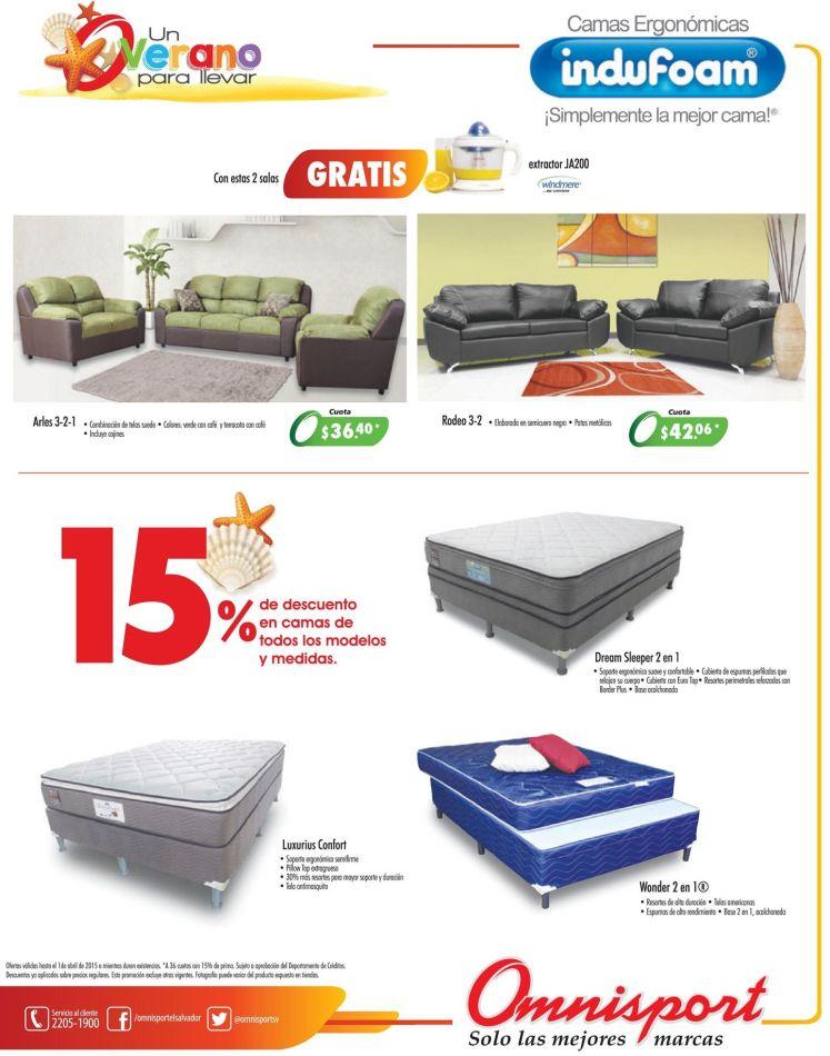 Almacenes OMNISPORT ofertas en camas INDUFOAM - 28mar15