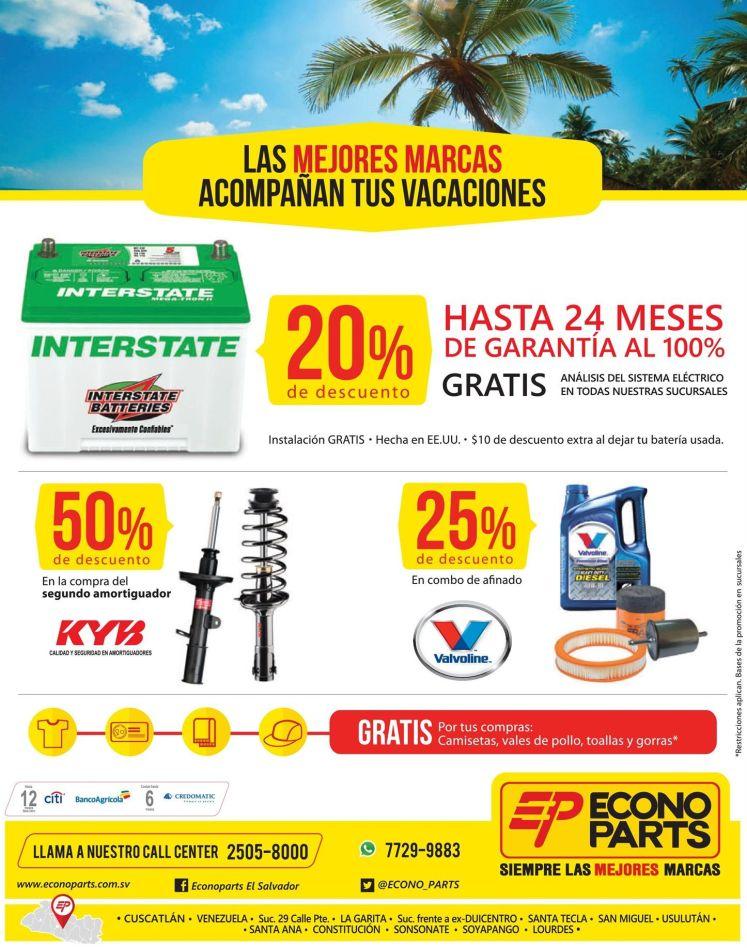 Bateria amortioguadores ACEITE productos para tu auto en vacaciones