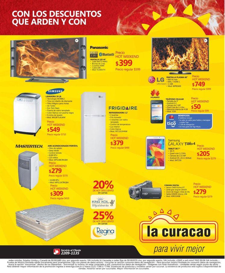 Descuentos que arden HOT WEEKEND de la curacao - 20mar15