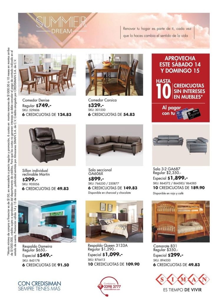 Furniture SUMMER SALE promotions and offers - 14mar15
