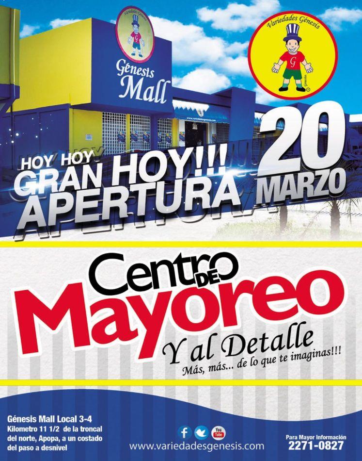 Gran apertura GENESIS MALL centro de mayoreo FARDOS and PACKAGE y al detalle