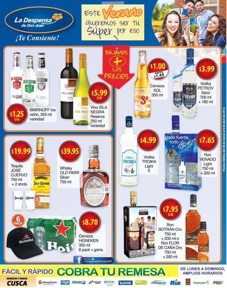 La despensa Disfruta de tus bebidas favoritas en oferta - 28mar15
