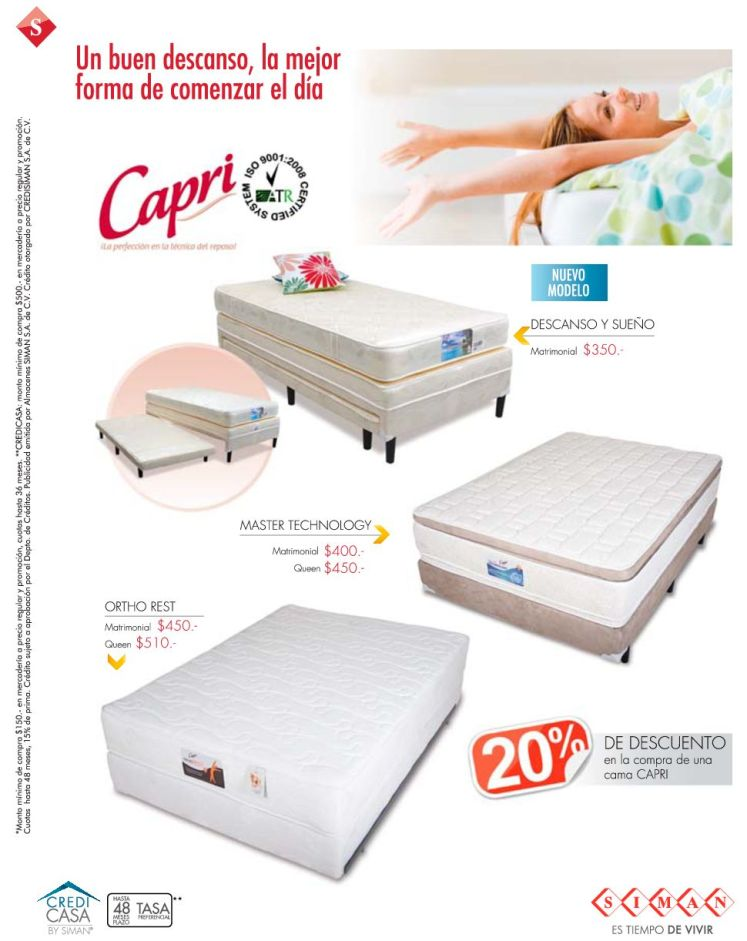Master technology rest premium BEDS ortho power by SIMAN and CAPRI