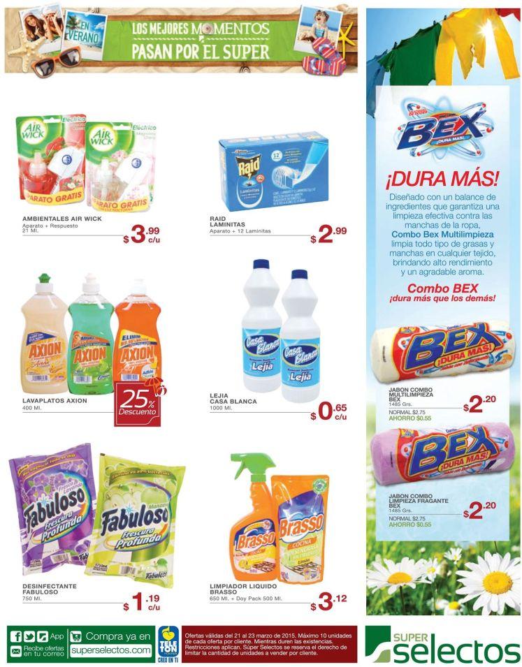 Productos en promociones para limpieza y lavado de tu ropa - 21mar15