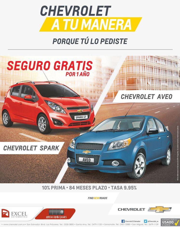 Promocion en compra autos CHEVROLET Assurance FREE