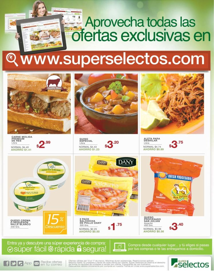 SHOPPING online Super Selectos ofertas - 13mar15