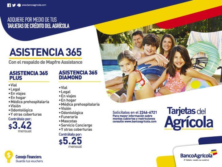 Seguros familiares para vacaciones ASISTENCIA 365 banco agricola