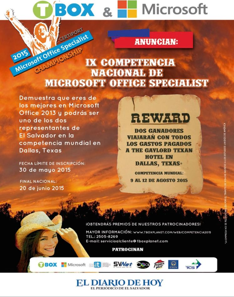 TBOX and Microsoft office specialist CONTEST 2015