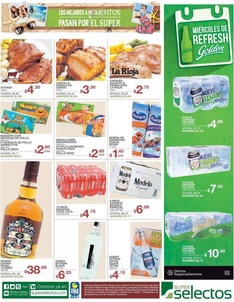 super selectos precios especiales en productos especial de vacaciones de semana santa - 25mar15